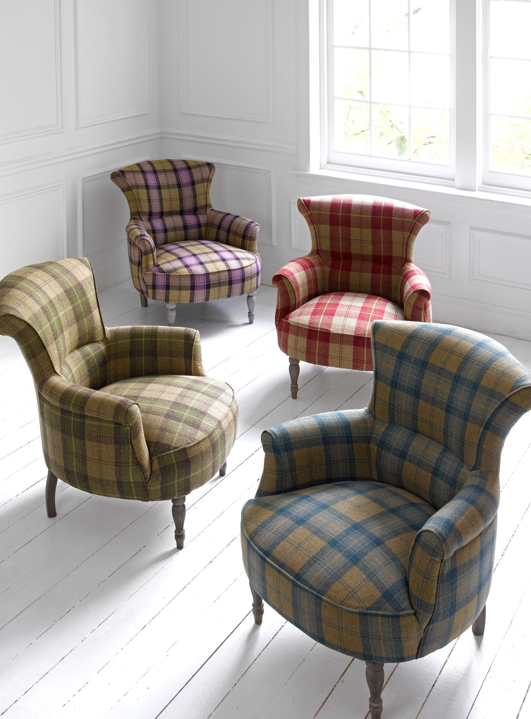 Exceptionnel Plaid Wingback Chair