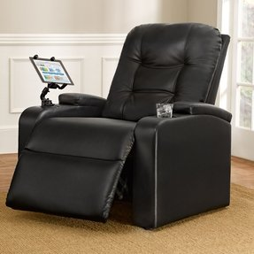 Plus+Size Living Brylanehome Extra Wide Tufted Recliner With Cup Holder And Removable Tablet Holder