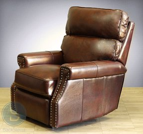 Power Recline Barcalounger Lochmere II Recliner Lounger Chair Broughton Saddle Leather