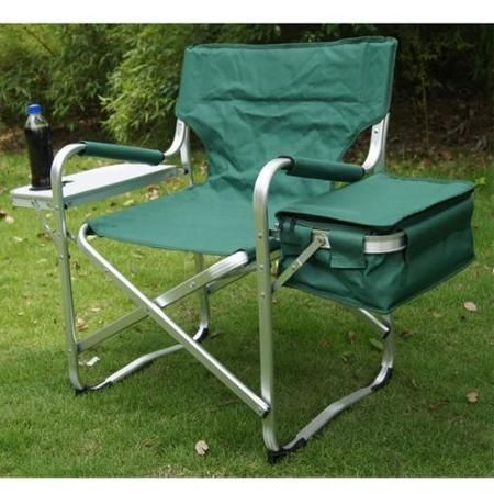 Prime Garden® Aluminum Director Chair With Folding Tray And Ice Pack, Green