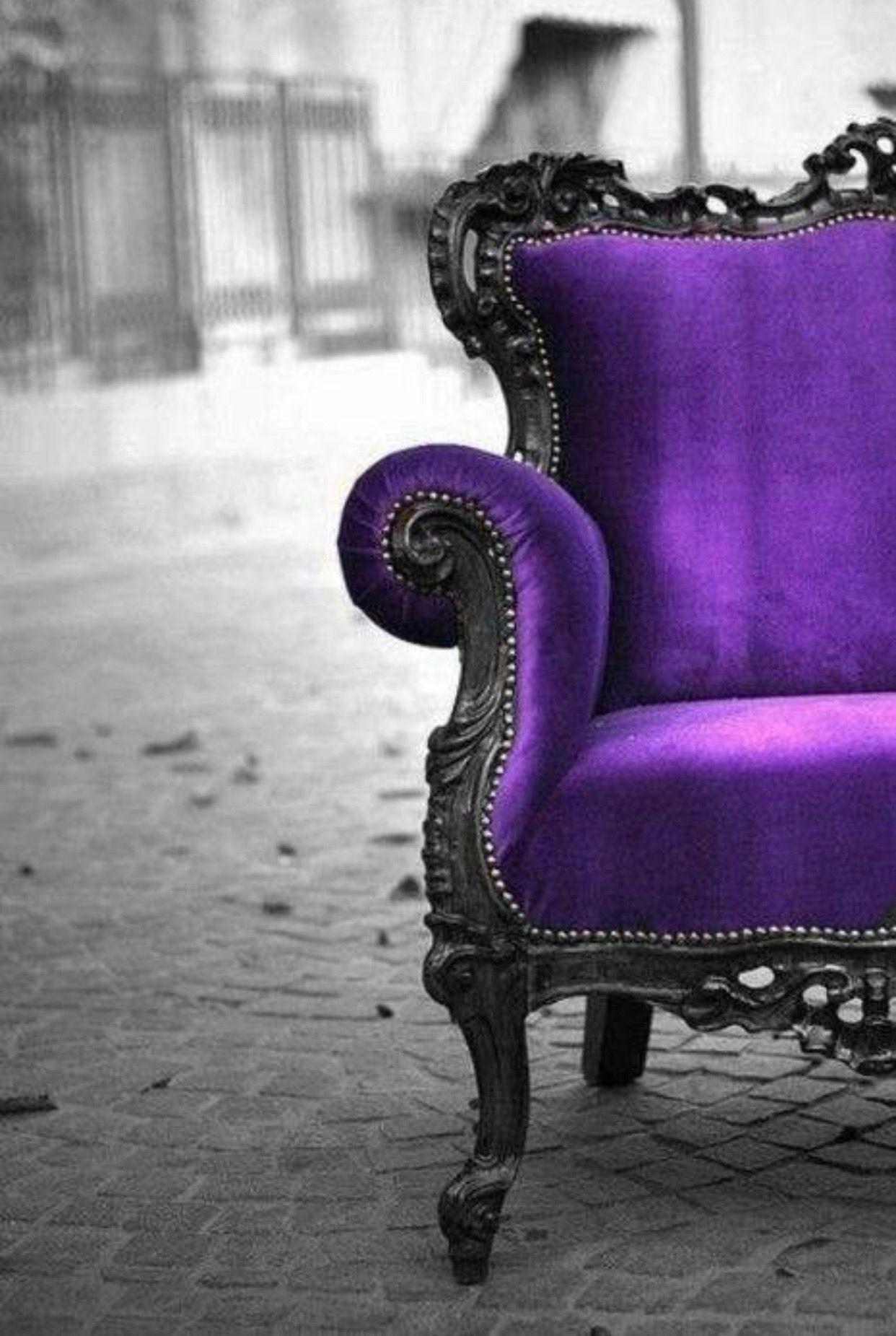Purple Armchairs