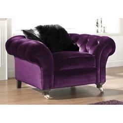 Purple Chaise Lounge Chair 1