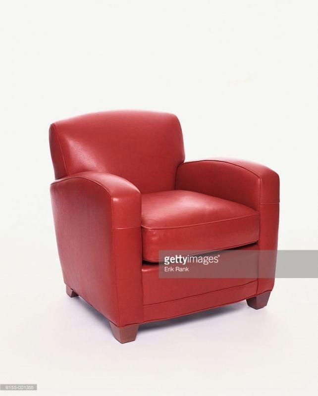 Delightful Red Leather Armchair