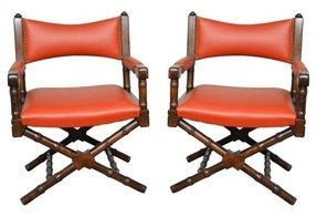 Red leather armchairs 13