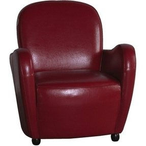 Red leather armchairs 16
