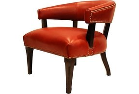 Red leather armchairs 20
