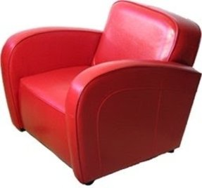 Red leather armchairs 33