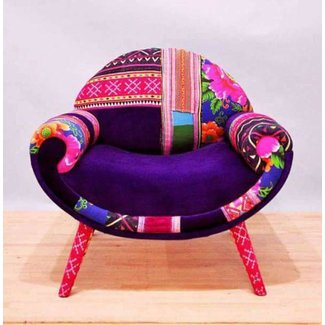 Smiley patchwork armchair 5