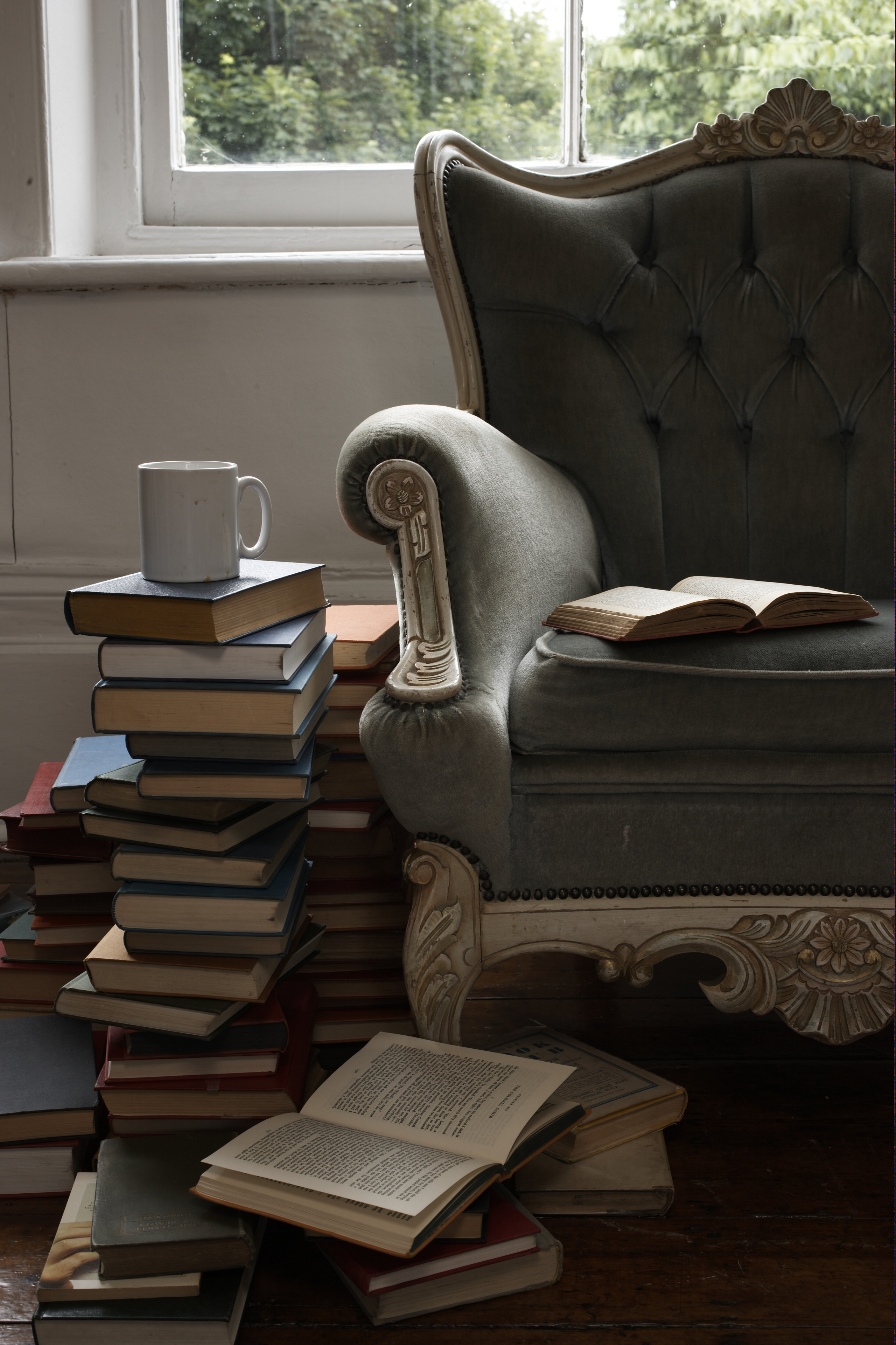 Stacked Books Side Table