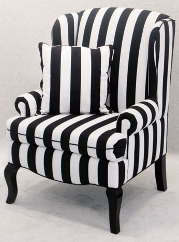 Superior Striped Armchairs 2