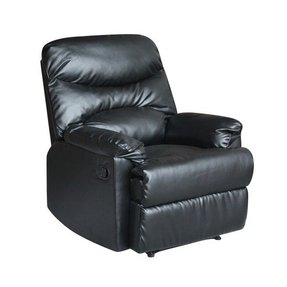 Tucker Modern Black Bonded Leather Recliner Chair