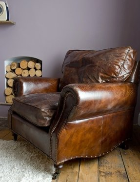 Vintage brown leather chair