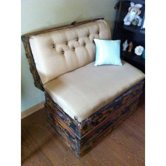 Vintage trunk bench seat 2