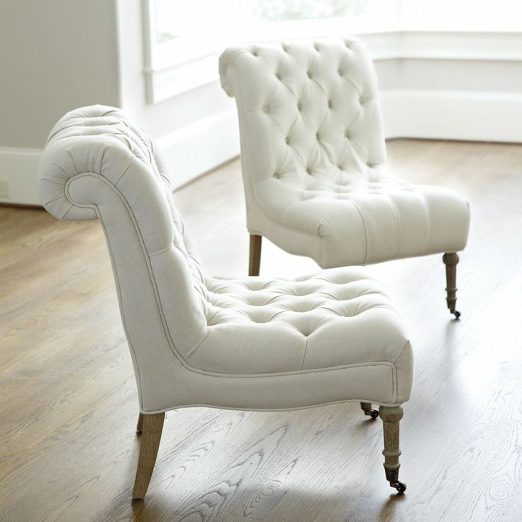 Superb White Tufted Chairs 1