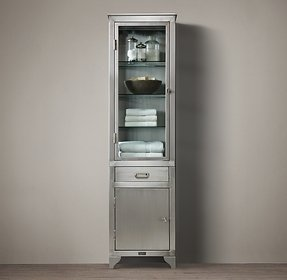 1930s laboratory stainless steel storage cabinet tall restoration hardware 22