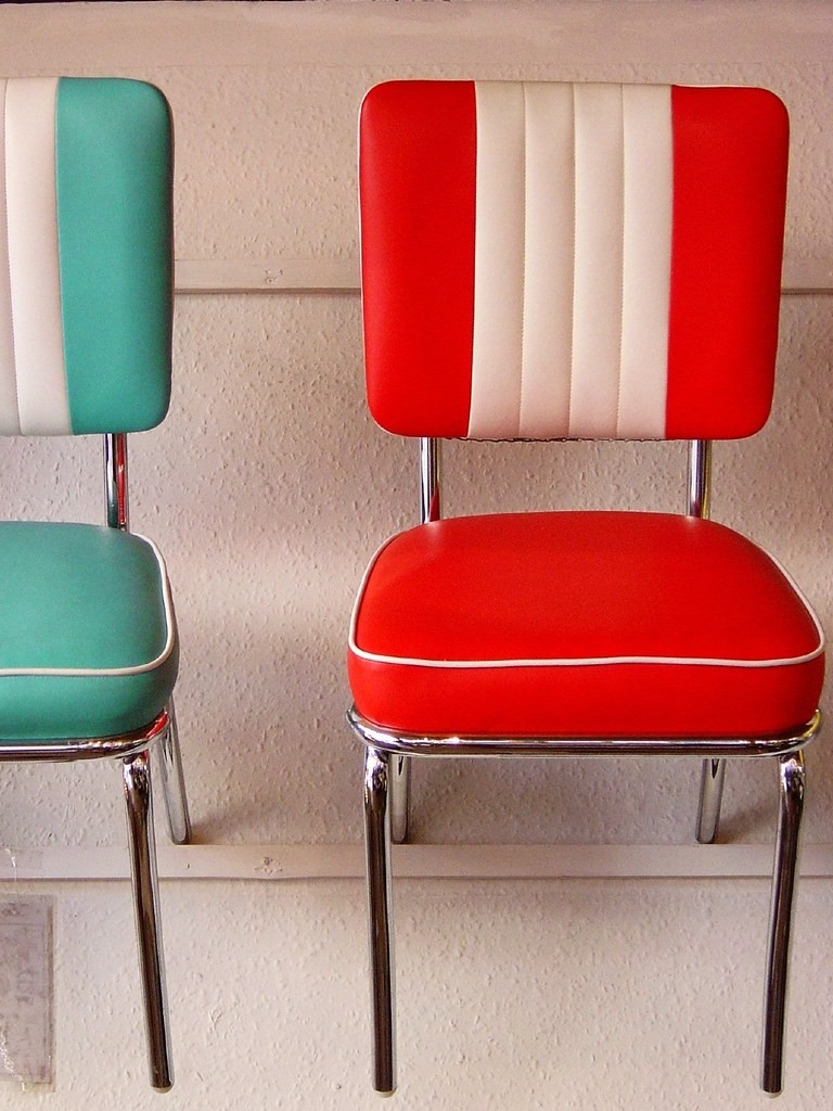 50s Retro Colorful Vinyl Chairs Love The Striping On These