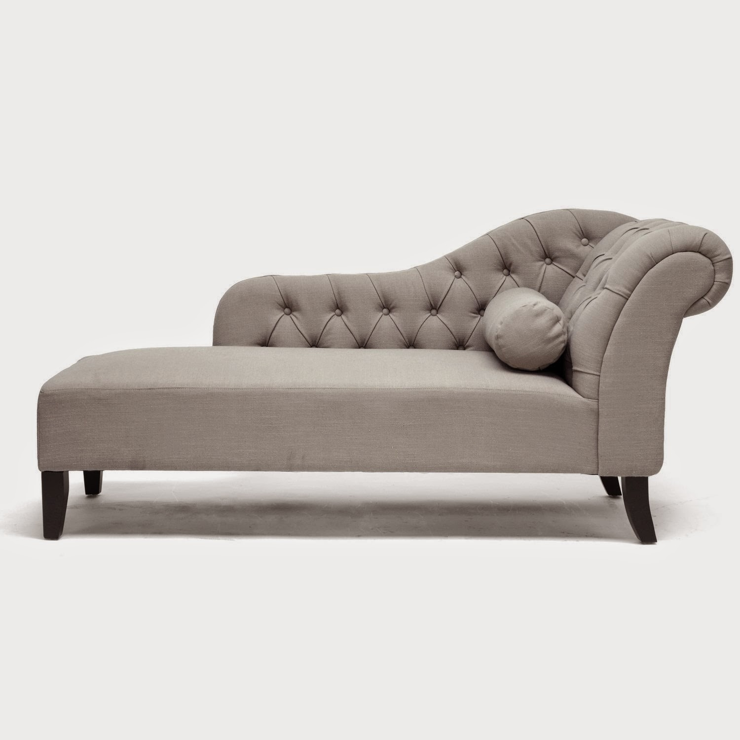 Baxton studio aphrodite tufted putty gray linen modern chaise lounge  sc 1 st  Foter : chair chaise lounge - Cheerinfomania.Com