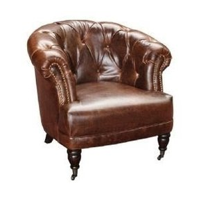 Brown leather tub chairs sale