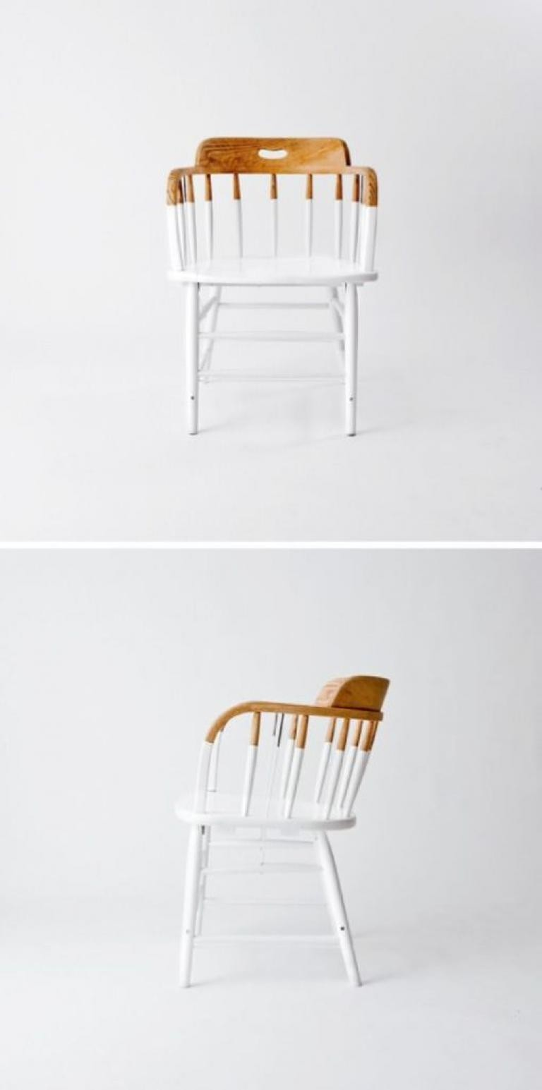 That Is A Simply Chair Right?Not At All   Unconventional Idea To Paint It  Only In Half Makes It A Pearl Of Modern Design.Captains White Chairs Are  Unusual ...