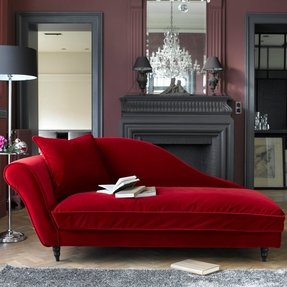 Modern Chaise Lounges They Are A Non Standard Solution For Refined Decoction But Also Place Distinguished Snooze Red Upholstery
