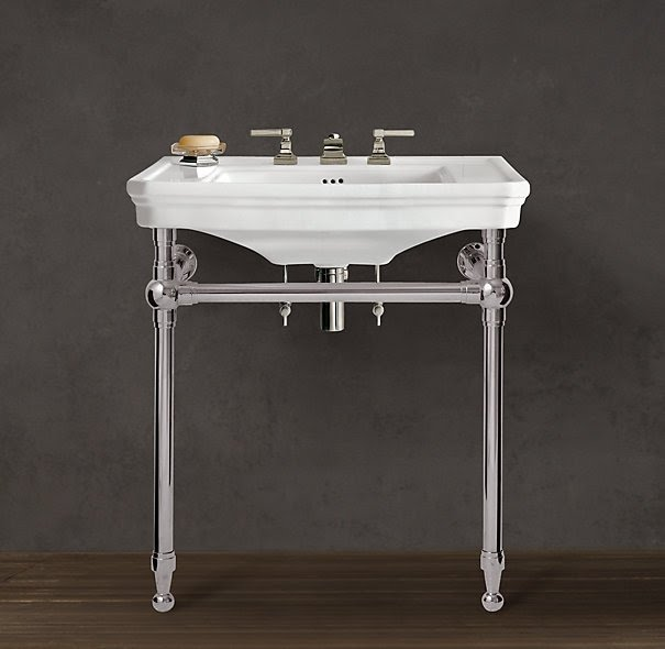 Chrome Pedestal Sink