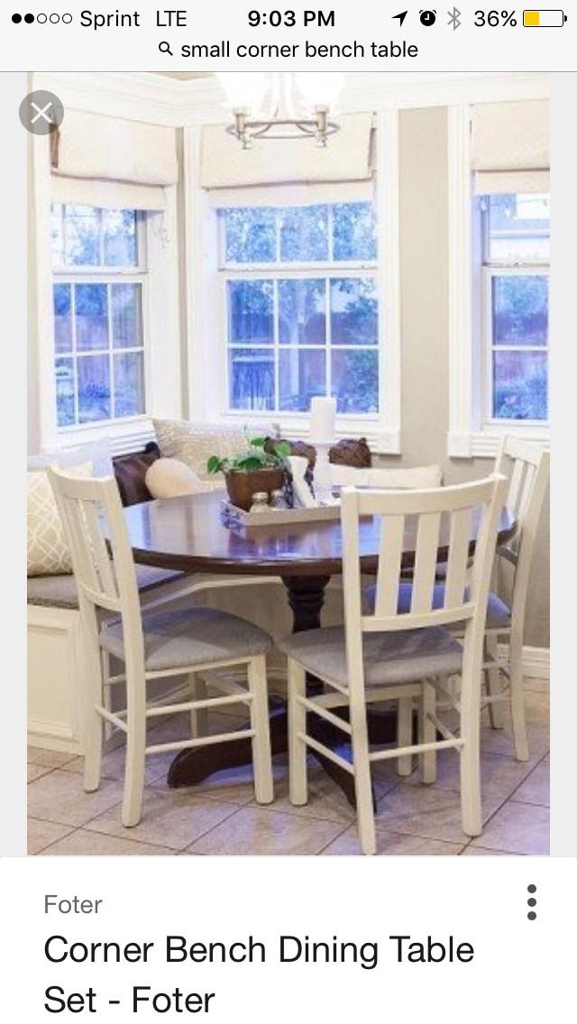 Corner bench dining table set 1 & Corner Bench Dining Table Set - Foter