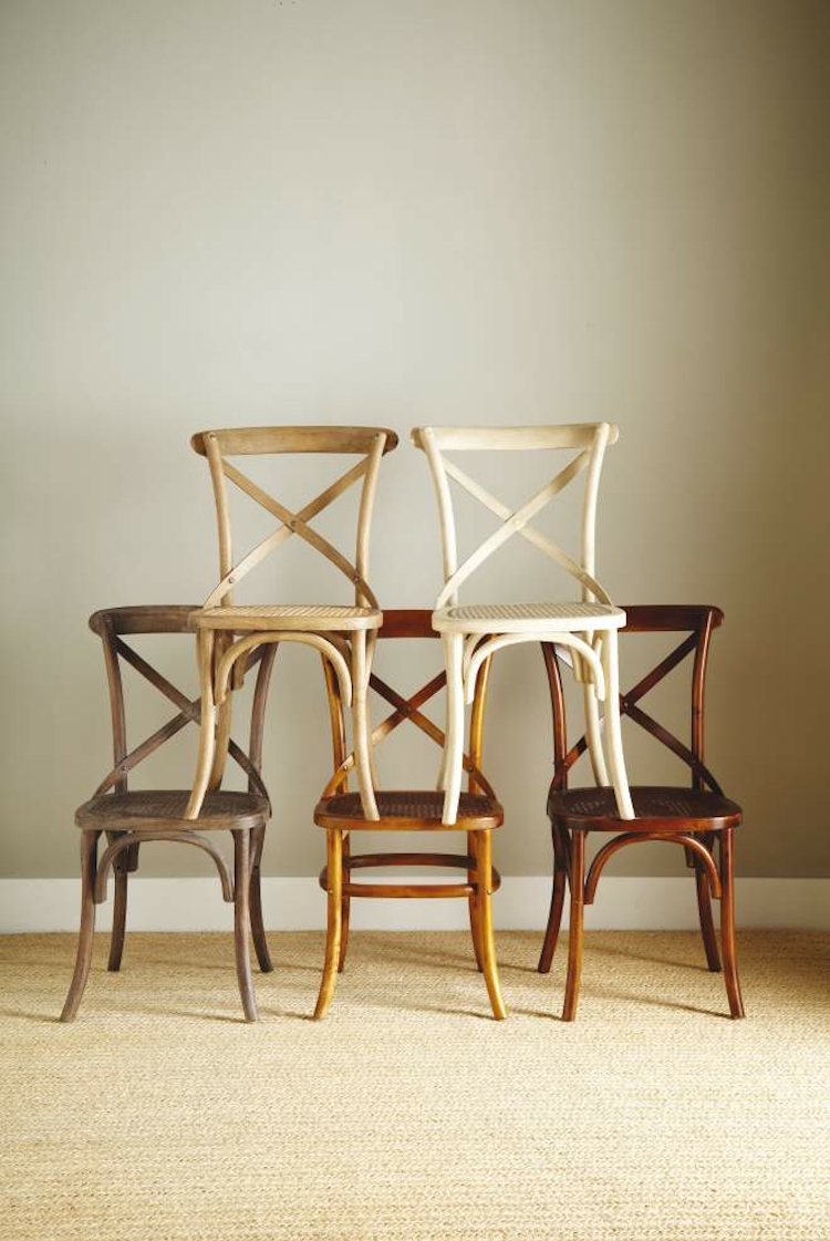 Elegant Cross Back Dining Chair
