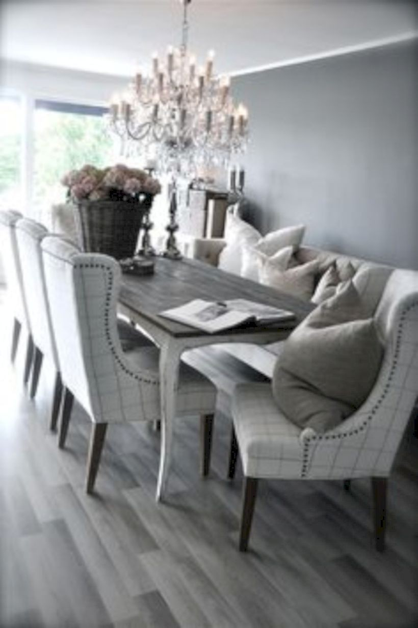 Superbe Dark Grey Dining Room