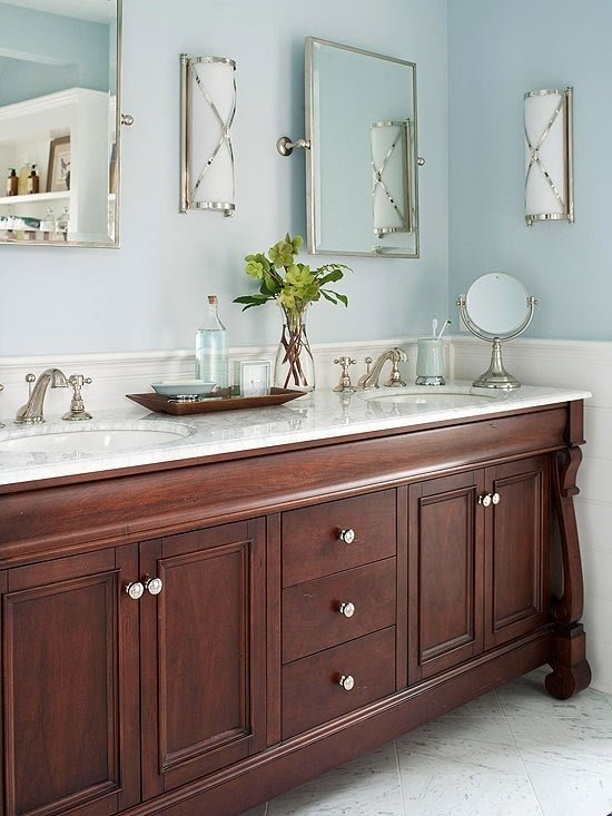 Ordinaire Dark Wood Vanity