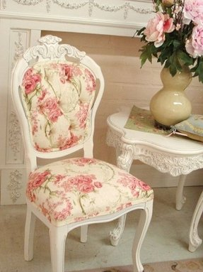 Floral accent chairs