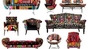 Floral fabric sofas