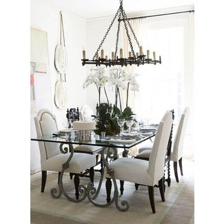 Gl Top Wrought Iron Dining Table For 2020 Ideas On Foter