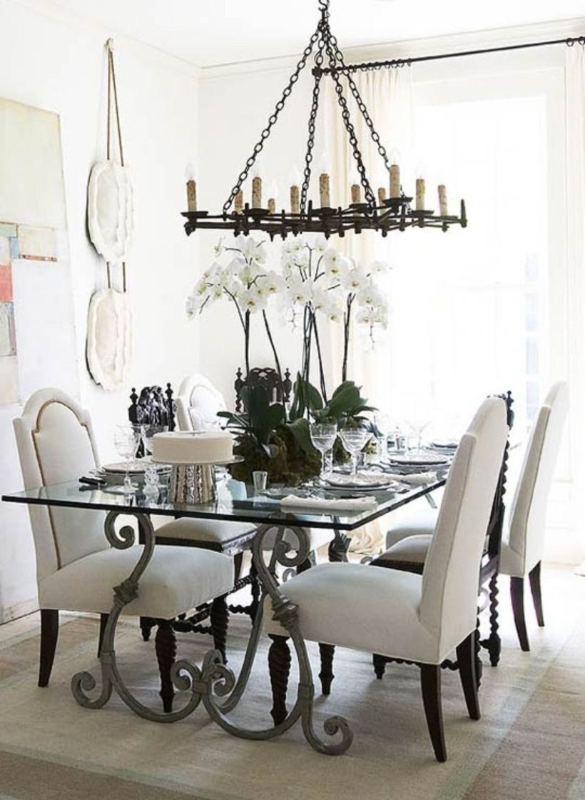 Superieur Glass Top Wrought Iron Dining Table 1