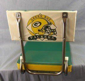 Green Bay Packers Folding Bleacher Chair Seat Cushion Vtg 1993