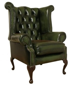 Green wingback chair 2