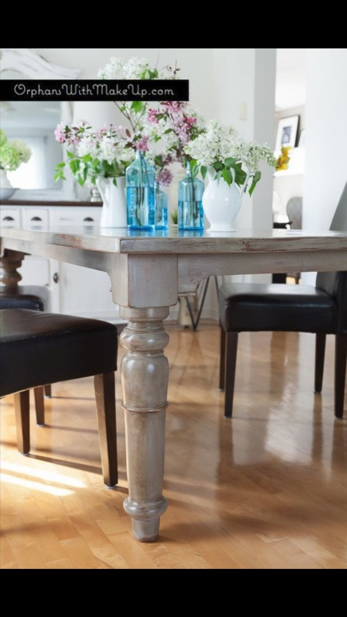 Grey Painted Dining Table
