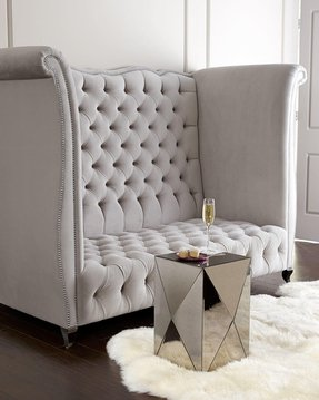 High back tufted sofa 1