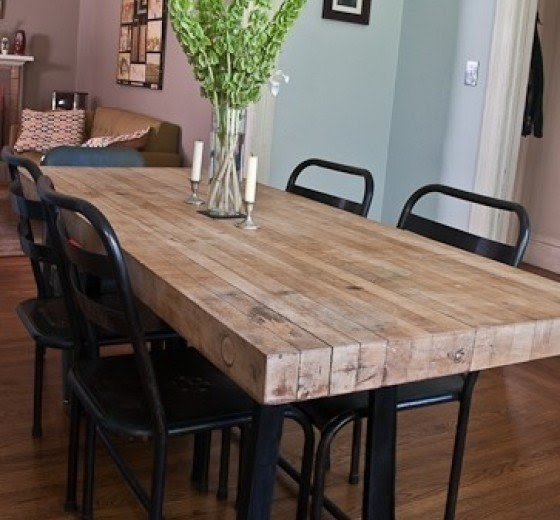 Bon Industrial Kitchen Table