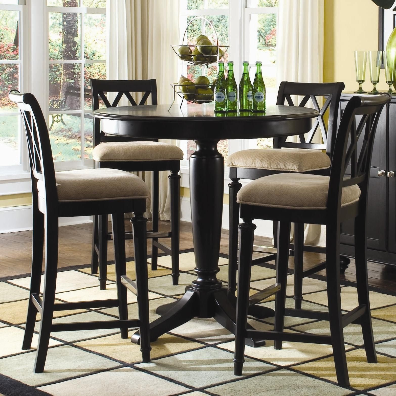 round bar height dining table ideas on foter rh foter com kitchen table and chairs bar height bar height kitchen table with storage