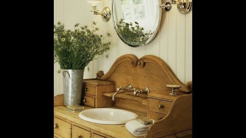 Knotty Pine Bathroom Vanity