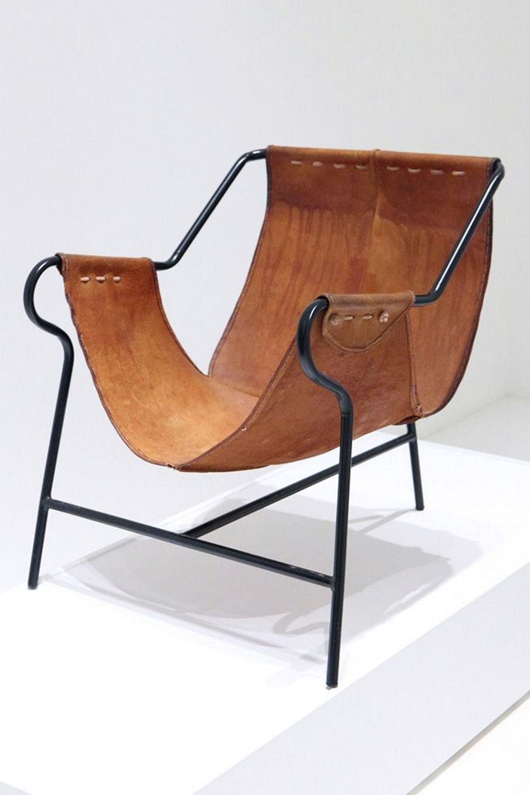 Captivating Leather And Metal Chair