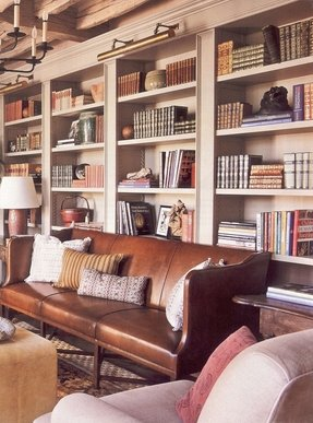 Leather bookcase