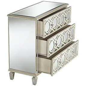 Lovelyn 3-Drawer Mirrored Accent Chest