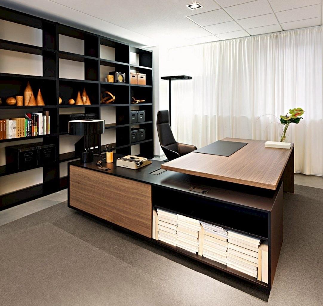 Office desks modern Small Modern Shaped Office Desk Modern Digs Modern Shaped Office Desk Ideas On Foter