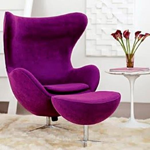 Ordinaire Modern Purple Chair 5