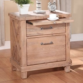 Modus Furniture 7YM281 Yosemite Solid Wood Nightstand, Cider