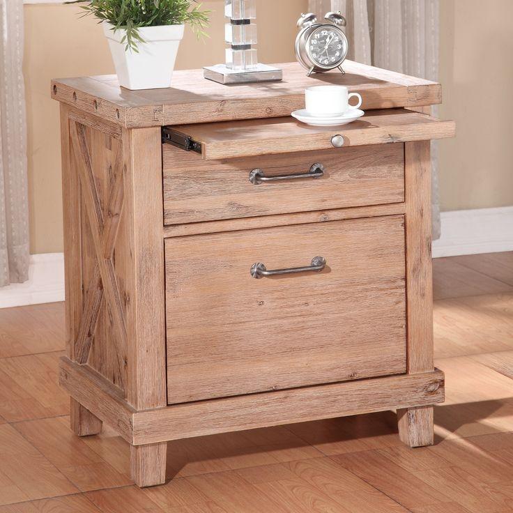 Modus Furniture 7YM281 Yosemite Solid Wood Nightstand, Cider