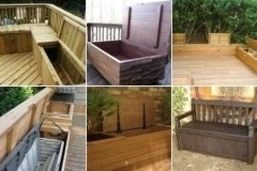 Outdoor waterproof storage bench