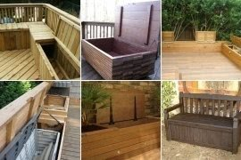 Beautiful Outdoor Waterproof Storage Bench