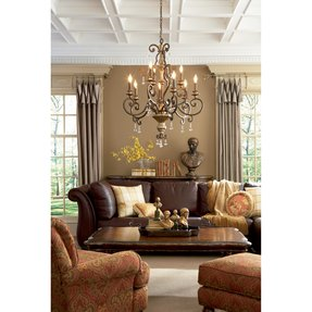 Quoizel marquette two tier chandelier with 9 uplights in heirloom